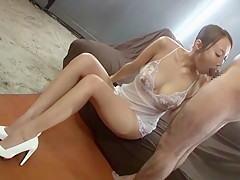 Crazy Japanese slut Aoi Matsushima in Incredible cougar, couple JAV scene