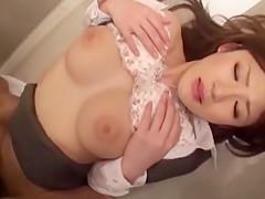 Exotic Japanese whore Natsu Ando in Hottest Doggy Style, Fingering JAV scene