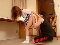 Hottest Japanese chick in Fabulous JAV uncensored Co-ed scene
