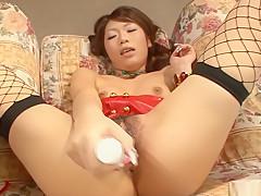 Fabulous Japanese slut Arisa Aoyama in Incredible JAV uncensored Stockings video