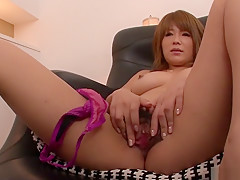 Exotic Japanese model Rika Aina in Horny JAV uncensored Masturbation clip