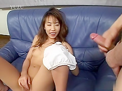 Exotic Japanese model in Horny JAV uncensored Handjobs clip