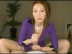 Exotic Japanese model Riona Minami in Fabulous POV, Doggy Style JAV movie