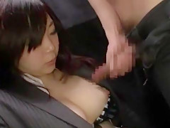 Crazy Japanese girl Yuri Sato 2, Chiharu Nakai, Yuuna Hoshisaki in Incredible Blowjob/Fera JAV clip