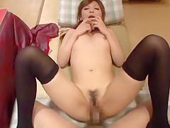 Fabulous Japanese whore Haruki Sato in Hottest Stockings/Pansuto, Big Tits JAV scene