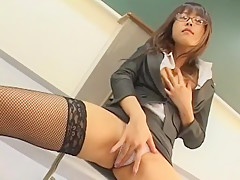 Best Japanese model Runa Akatsuki in Crazy Stockings/Pansuto, Fishnet JAV scene