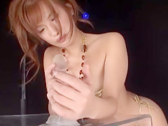 Exotic Japanese model Rio Fujisaki in Crazy Ass, Masturbation/Onanii JAV clip