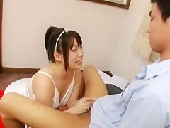 Exotic Japanese chick An Shinohara in Incredible Big Tits JAV movie