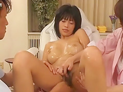 Crazy Japanese model Sasa Handa in Hottest Massage JAV movie