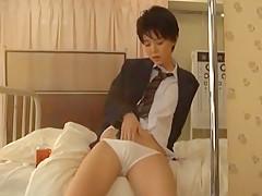 Incredible Japanese slut Tsukasa Aoi in Horny Handjobs JAV clip