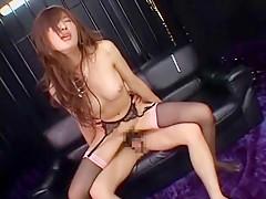 Exotic Japanese slut Rina Kousaka in Crazy Small Tits, Stockings/Pansuto JAV video