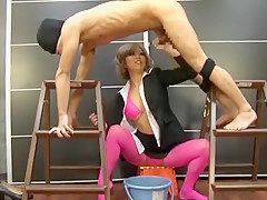Horny Japanese slut Haru Sakuraba in Incredible Femdom JAV video