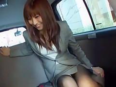 Exotic Japanese slut in Horny Car JAV clip