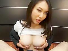 Horny Japanese model Ryo Kashima in Exotic Censored, Handjobs JAV video
