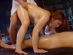 Horny Japanese model Shiori Kamisaki in Hottest Gangbang, Creampie/Nakadashi JAV video