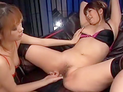 Best Japanese slut Ren Bitou, Yuria Sendoh, Rino Konno in Hottest Lesbian/Rezubian, Fingering JAV video