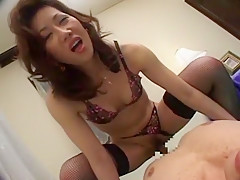 Horny Japanese model Misuzu Shiratori in Hottest Lingerie, Doggy Style JAV clip