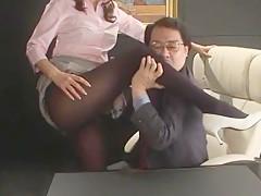 Amazing Japanese chick Honami Takasaka in Exotic Stockings/Pansuto, Blowjob/Fera JAV movie