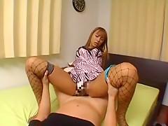 Hottest Japanese chick Rio Sakura in Crazy Girlfriend, Stockings/Pansuto JAV video