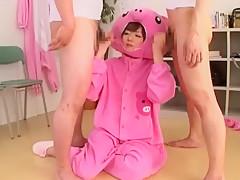 Horny Japanese chick Makoto Matsuyama in Best POV JAV video