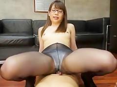 Hottest Japanese whore Riria Mikoto in Best Secretary, Cumshots JAV clip