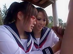 Horny Japanese model Rui Yazawa, Ema Kisaki, Ruka Namiki in Best Handjobs, Threesomes JAV scene