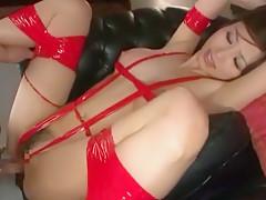 Horny Japanese model Akari Asahina in Best Facial, BDSM JAV clip