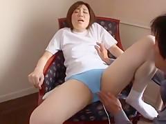 Horny Japanese chick Miyabi Tsukioka in Incredible Small Tits, Teens JAV movie