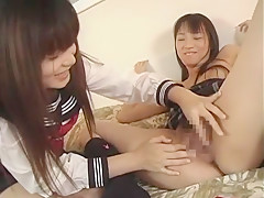 Hottest Japanese whore Riku Shiina, Jyuri Hoshino in Horny Teens, Lesbian/Rezubian JAV clip