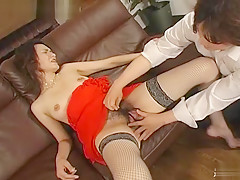 Horny Japanese chick in Exotic Cosplay, Cumshots JAV video