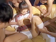 Exotic Japanese model in Hottest Group Sex, Uncensored JAV movie