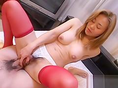 Exotic Japanese model in Crazy Uncensored, Blowjob/Fera JAV clip