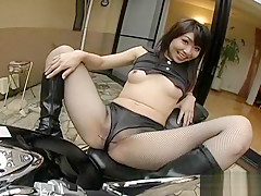 Amazing Japanese chick in Incredible Fishnet, Uncensored JAV clip