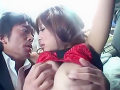 Exotic Japanese girl Haruki Sato in Crazy Cunnilingus, Bus JAV video