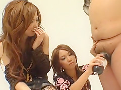 Exotic Japanese whore in Incredible Threesomes, Handjobs JAV video