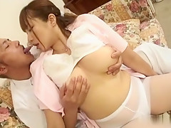 Incredible Japanese chick Myuu Hasegawa in Exotic JAV uncensored Stockings movie