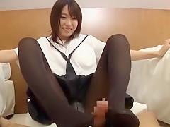 Incredible Japanese girl Chika Arimura in Fabulous Foot Job/Ashifechi, Cumshots JAV movie