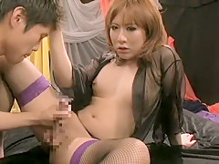 Crazy Japanese girl in Hottest Blowjob, /Futanari JAV video