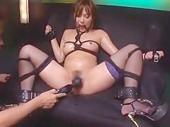 Amazing Japanese girl Rio Fujisaki in Horny Stockings/Pansuto, BDSM JAV movie