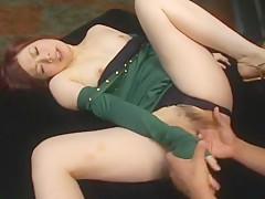 Crazy Japanese model Ren Takanashi in Horny Fingering, Dildos/Toys JAV clip